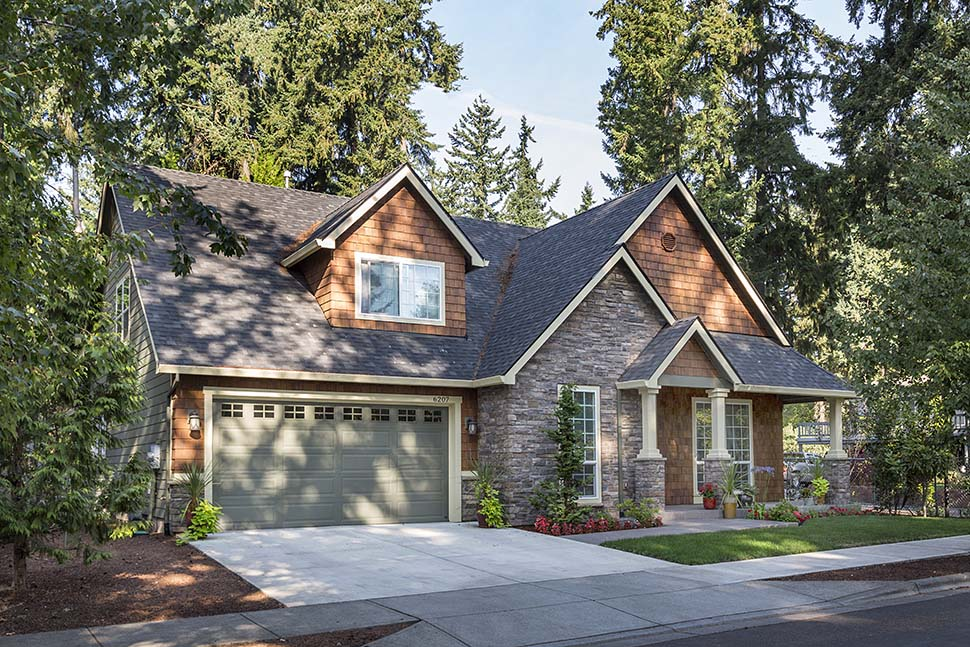 Bungalow, Craftsman House Plan 81232 with 3 Beds, 3 Baths, 2 Car Garage Picture 11
