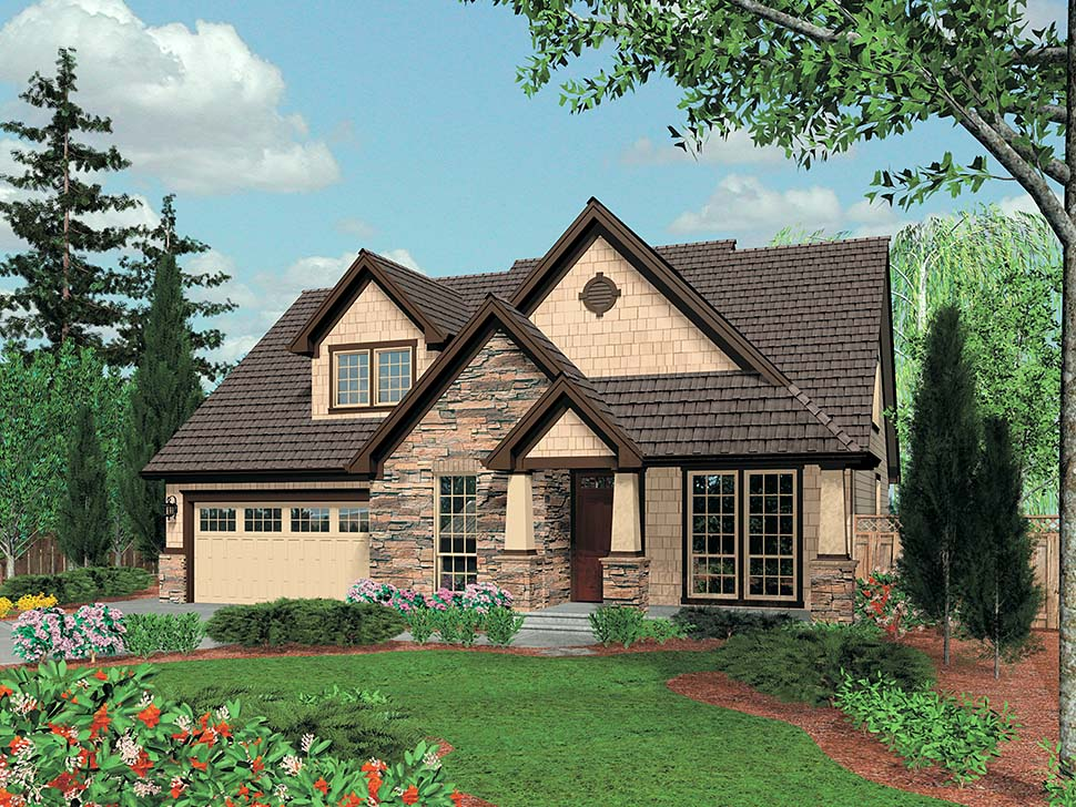 Bungalow, Craftsman House Plan 81232 with 3 Beds, 3 Baths, 2 Car Garage Picture 4