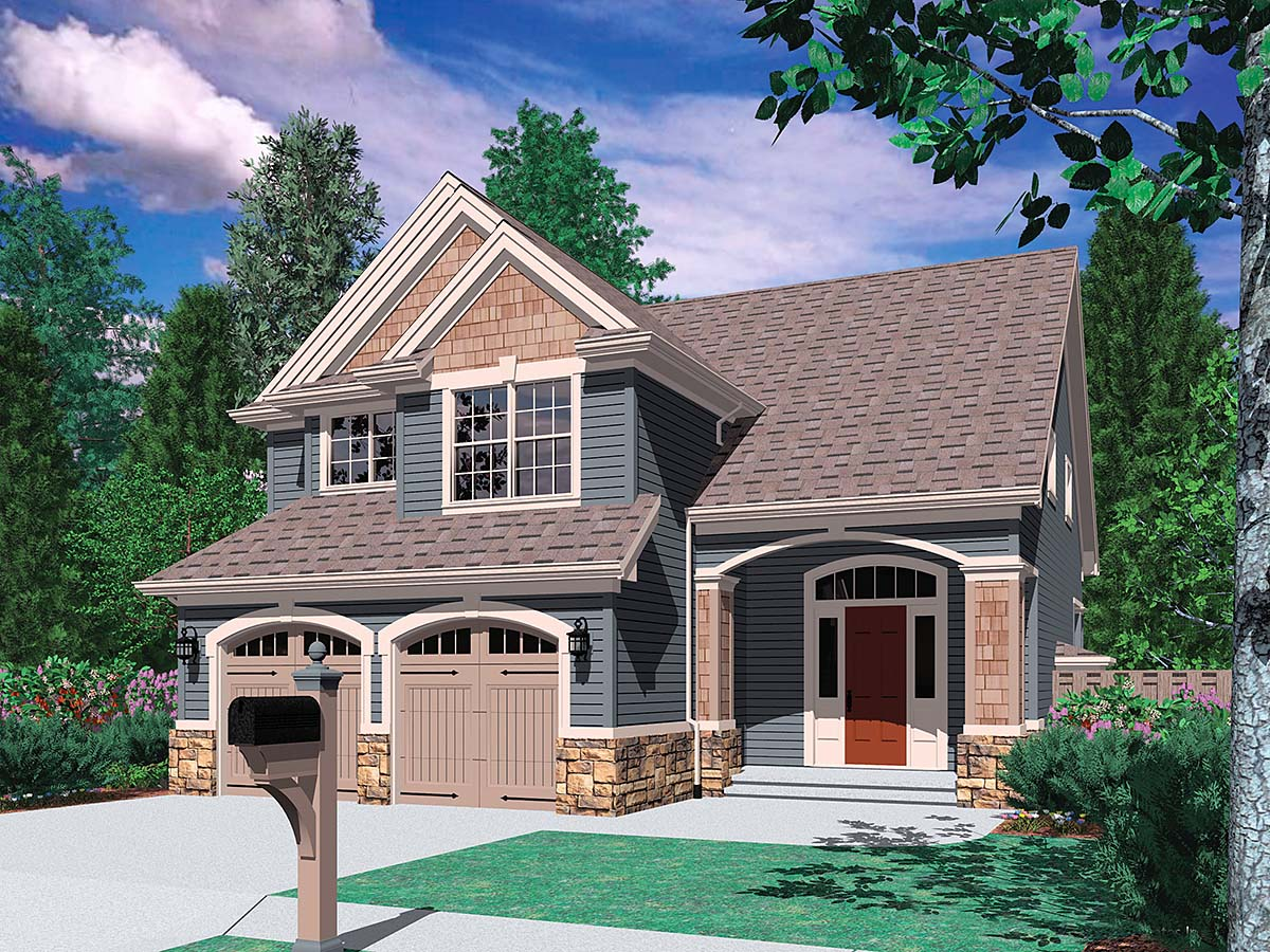 Craftsman, Traditional House Plan 81233 with 3 Beds, 3 Baths, 2 Car Garage Front Elevation