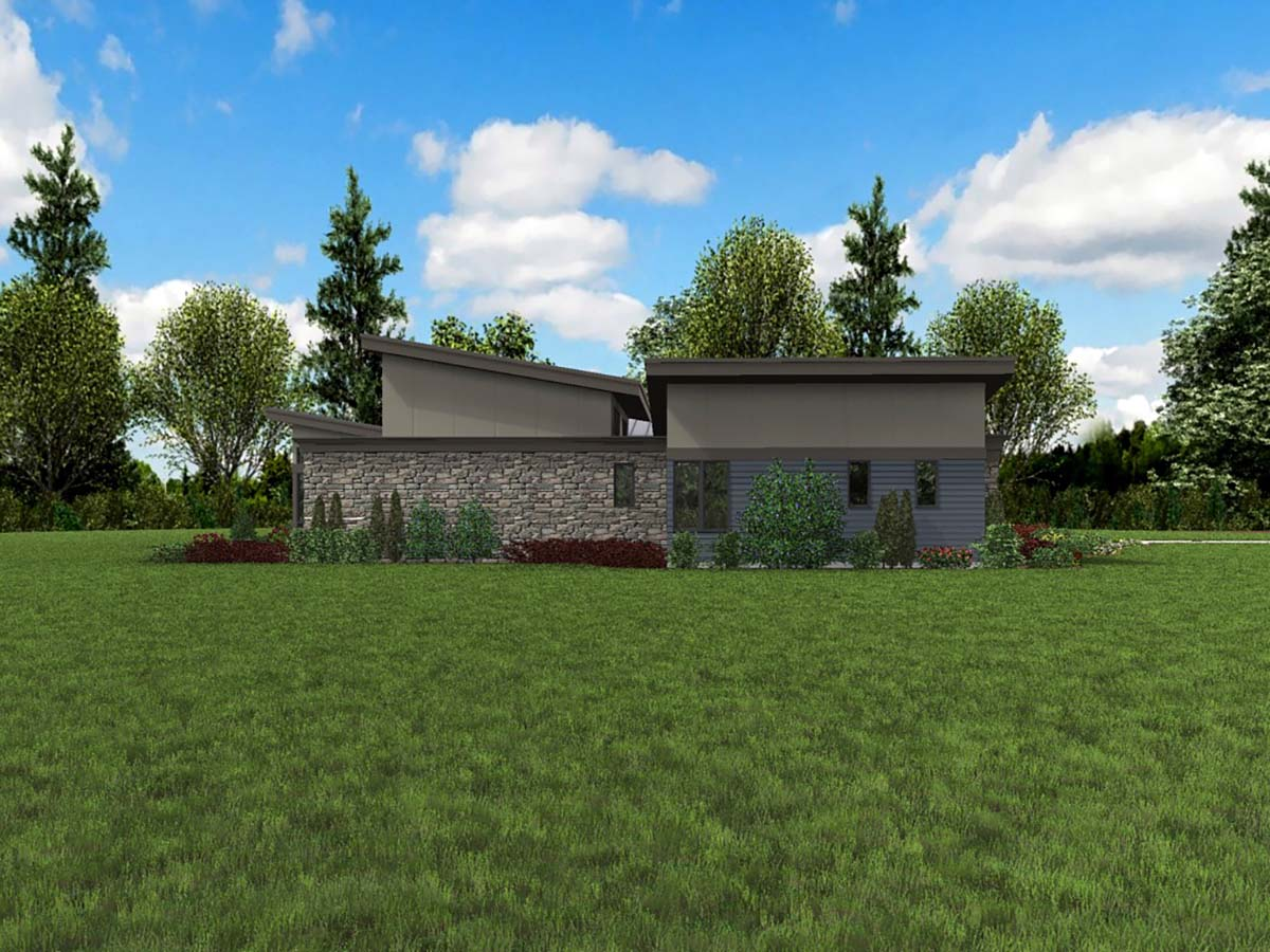 Contemporary, Modern House Plan 81235 with 3 Beds, 3 Baths, 2 Car Garage Picture 2