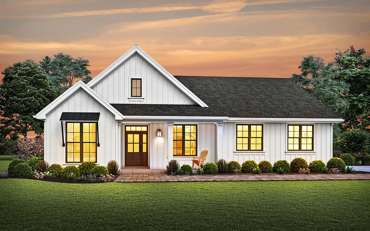 Cottage, Country, Ranch, Traditional House Plan 81241 with 3 Beds, 3 Baths, 2 Car Garage Front Elevation