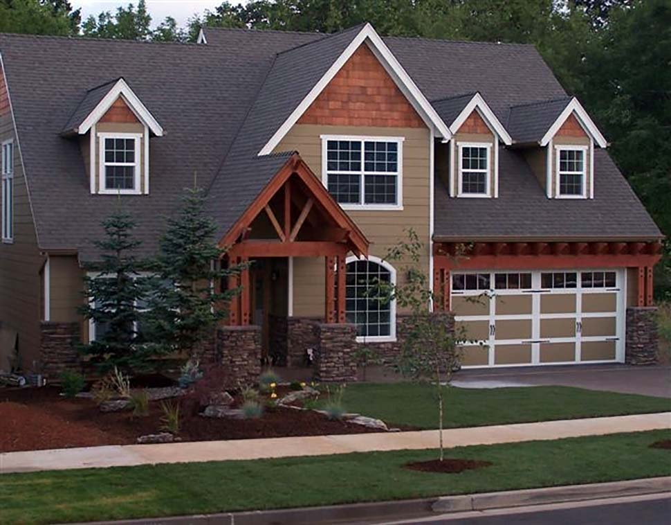 Craftsman, European, French Country, Traditional House Plan 81255 with 4 Beds, 3 Baths, 3 Car Garage Picture 3