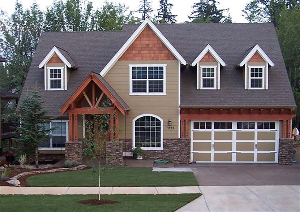 Craftsman, European, French Country, Traditional House Plan 81255 with 4 Beds, 3 Baths, 3 Car Garage Picture 4
