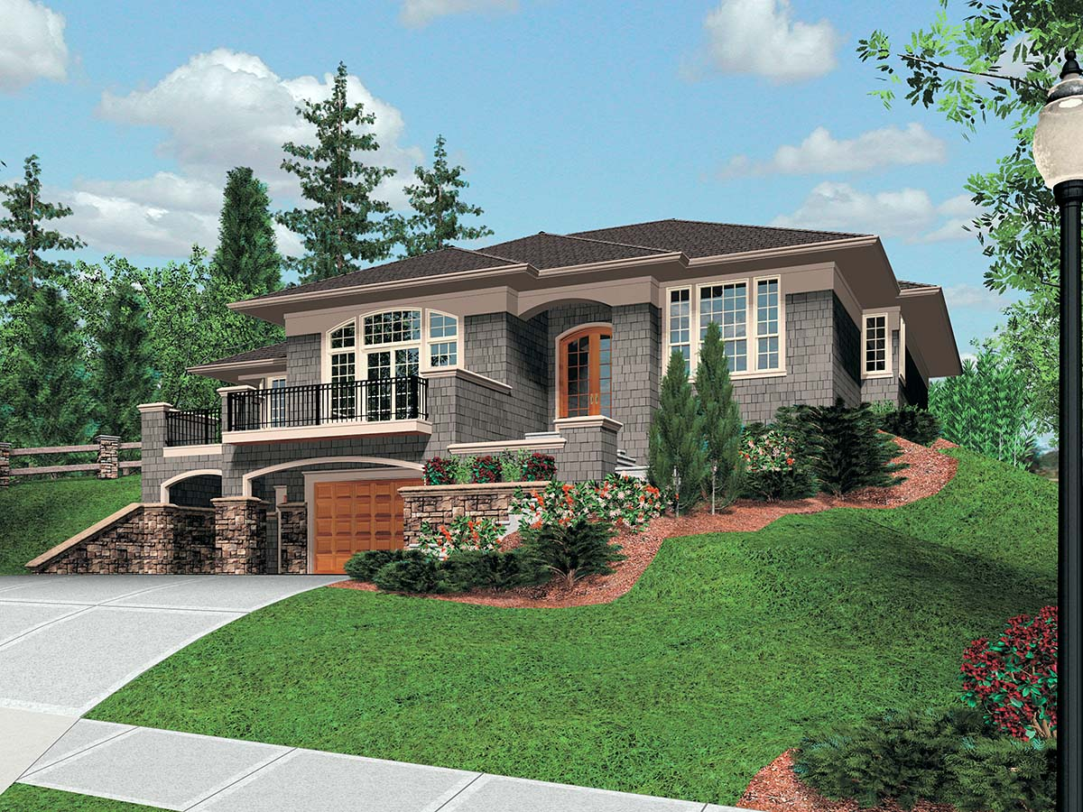Coastal, Contemporary, Prairie House Plan 81264 with 3 Beds, 3 Baths, 2 Car Garage Picture 1