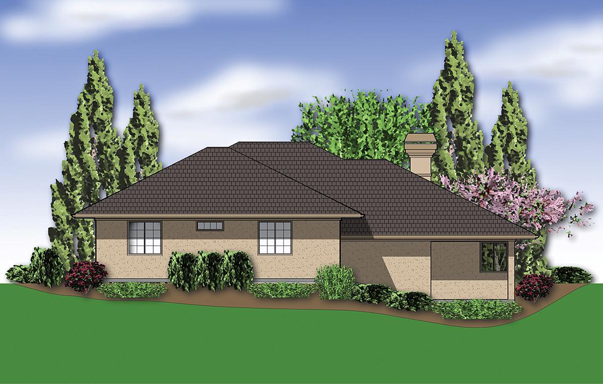 Coastal, Contemporary, Modern House Plan 81264 with 3 Beds, 3 Baths, 2 Car Garage Rear Elevation