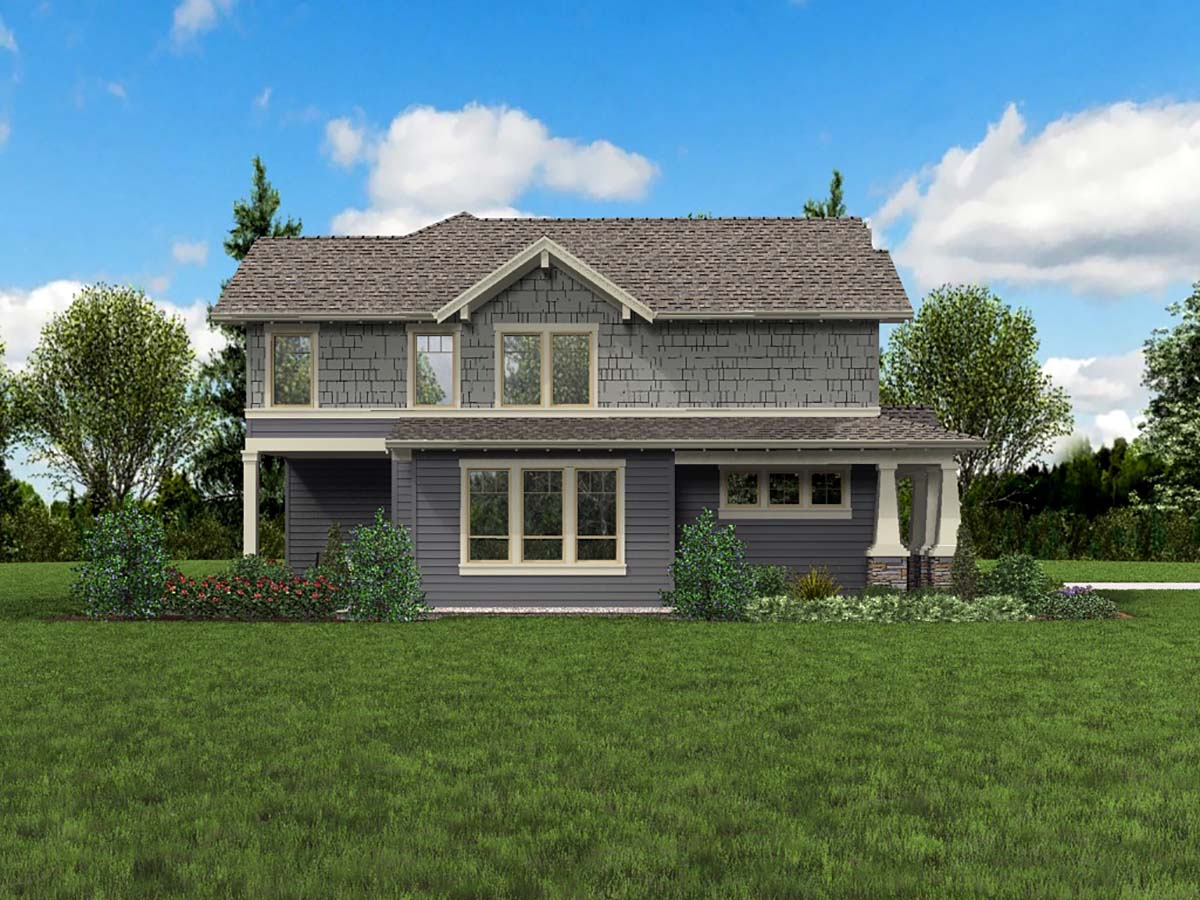 Craftsman House Plan 81265 with 3 Beds, 3 Baths, 2 Car Garage Picture 2