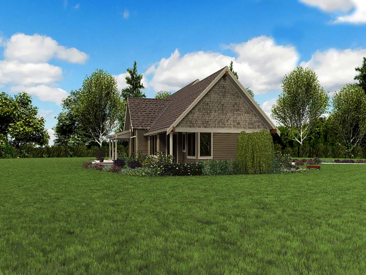 Bungalow, Craftsman, Tuscan House Plan 81278 with 3 Beds, 3 Baths, 2 Car Garage Picture 2