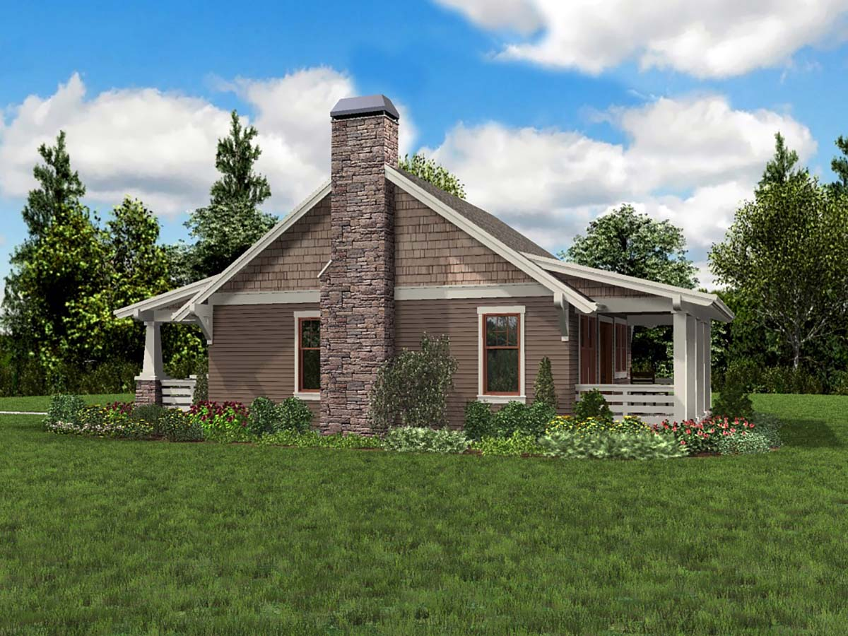 Bungalow, Cottage, Craftsman, Narrow Lot House Plan 81289 with 1 Beds, 1 Baths Picture 1