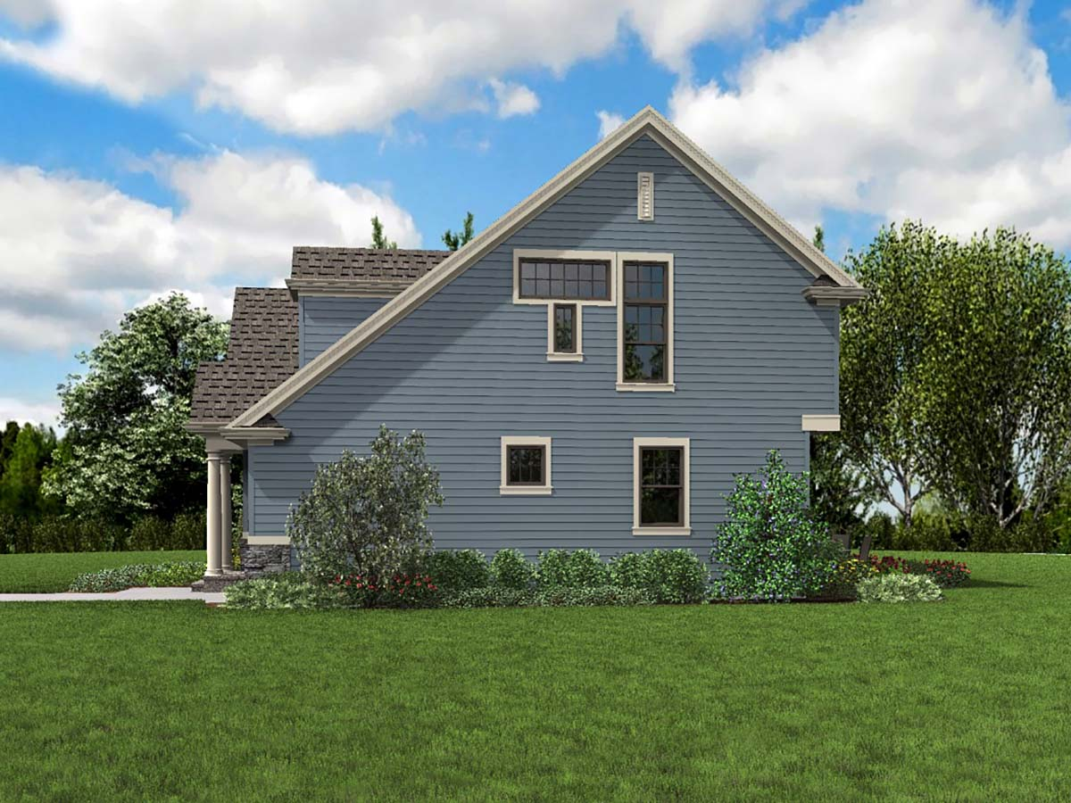 Bungalow, Colonial, Cottage, Craftsman, Narrow Lot House Plan 81293 with 3 Beds, 3 Baths, 1 Car Garage Picture 1