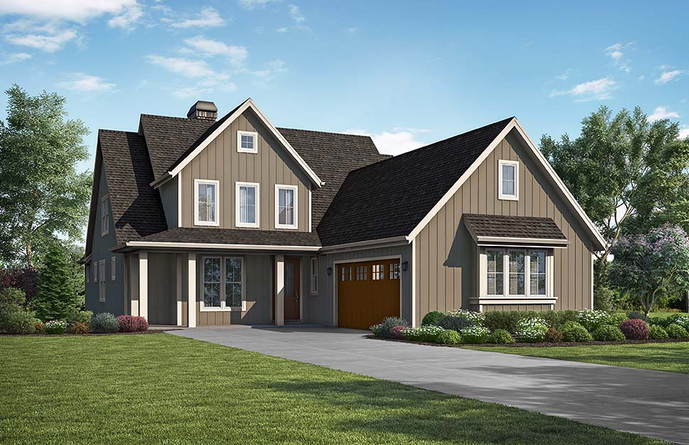 Traditional House Plan 81296 with 3 Beds, 3 Baths, 2 Car Garage Picture 3