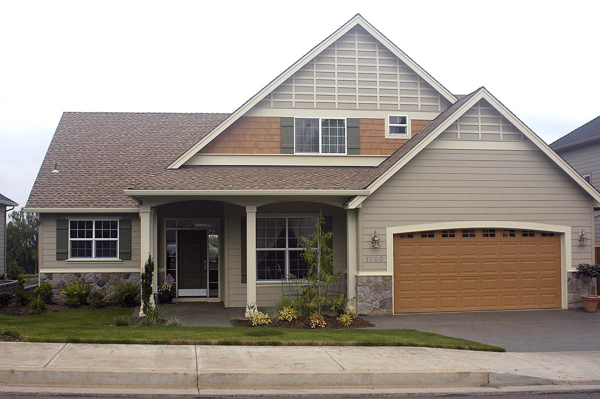 Bungalow House Plan 81300 with 3 Beds, 3 Baths, 3 Car Garage Picture 1