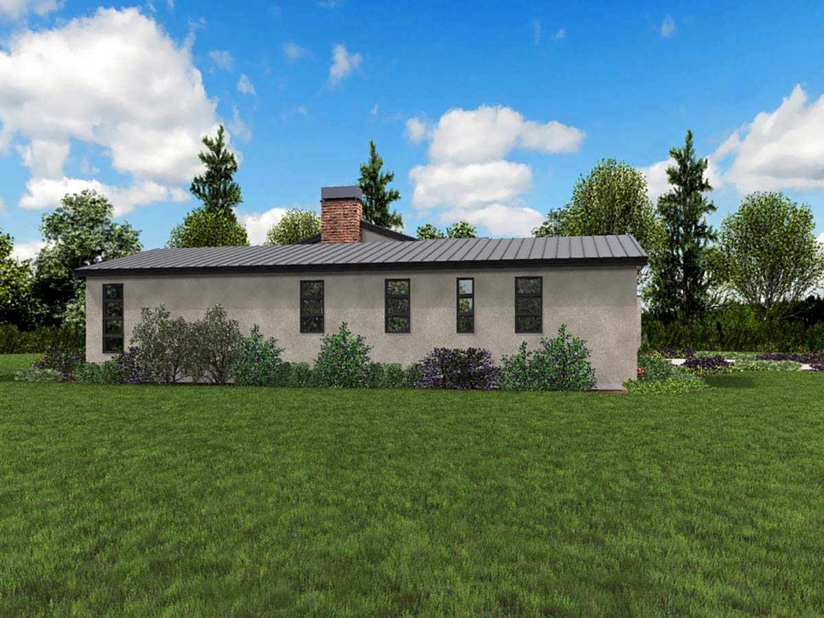 Contemporary, Modern House Plan 81304 with 3 Beds, 3 Baths, 3 Car Garage Picture 2