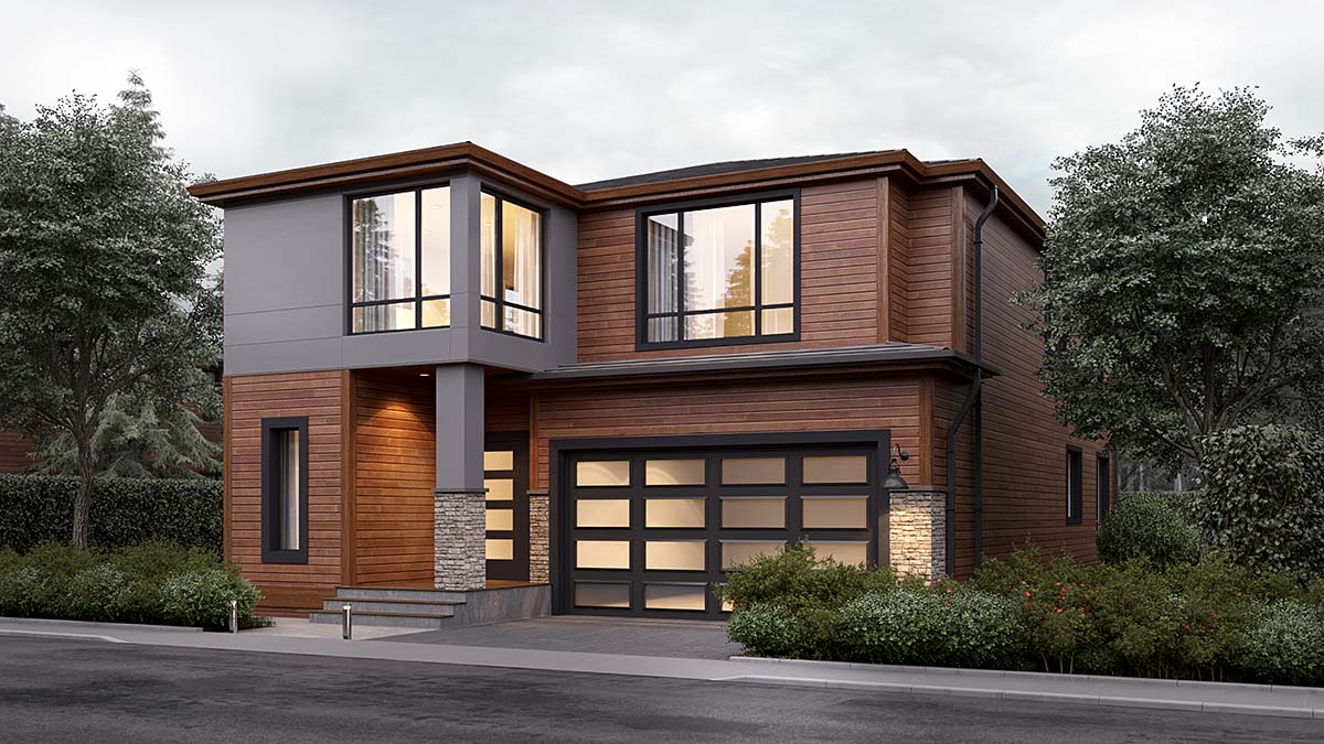 Modern House Plan 81904 with 4 Beds, 3 Baths, 2 Car Garage Elevation