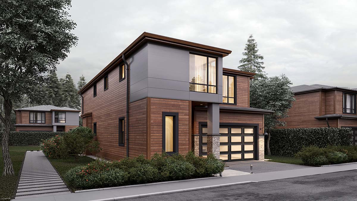 Modern House Plan 81904 with 4 Beds, 3 Baths, 2 Car Garage Picture 1