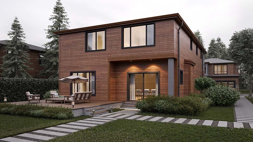Modern House Plan 81904 with 4 Beds, 3 Baths, 2 Car Garage Picture 2