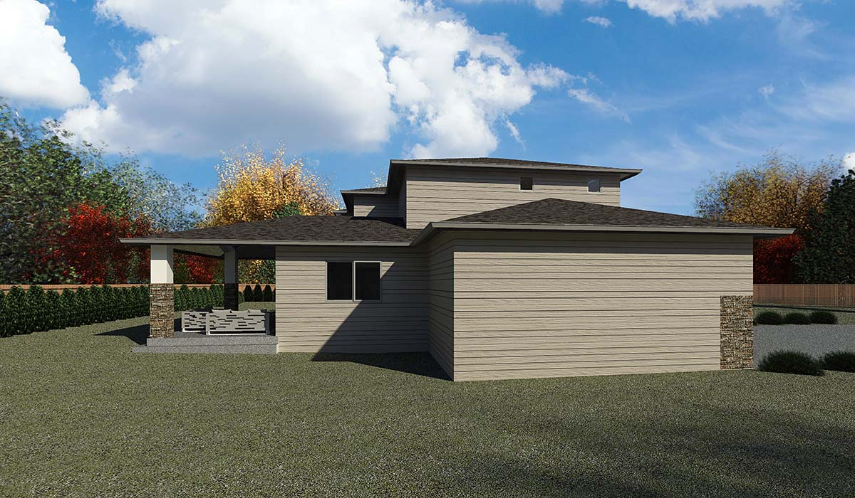Contemporary, Modern House Plan 81905 with 5 Beds, 4 Baths, 3 Car Garage Picture 2