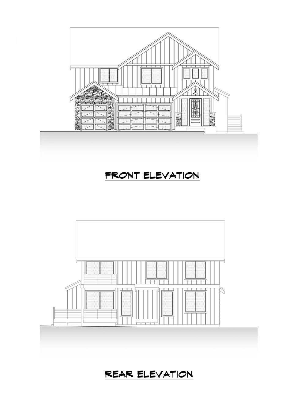 Craftsman, Farmhouse House Plan 81907 with 4 Beds, 3 Baths, 3 Car Garage Picture 3