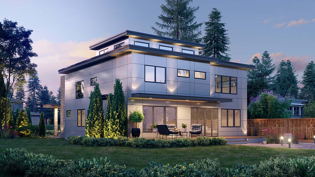 Modern House Plan 81908 with 5 Beds, 4 Baths, 2 Car Garage Picture 1