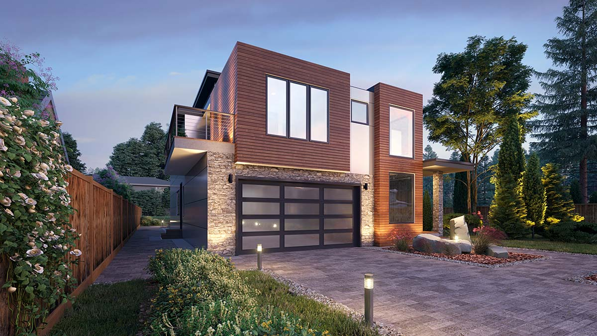 Modern House Plan 81908 with 5 Beds, 4 Baths, 2 Car Garage Picture 2