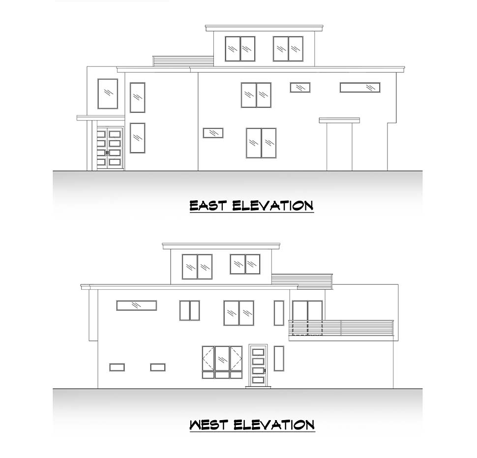 Modern House Plan 81908 with 5 Beds, 4 Baths, 2 Car Garage Picture 4