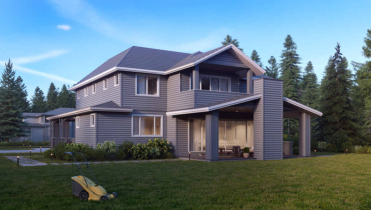 Traditional House Plan 81910 with 5 Beds, 5 Baths, 3 Car Garage Rear Elevation