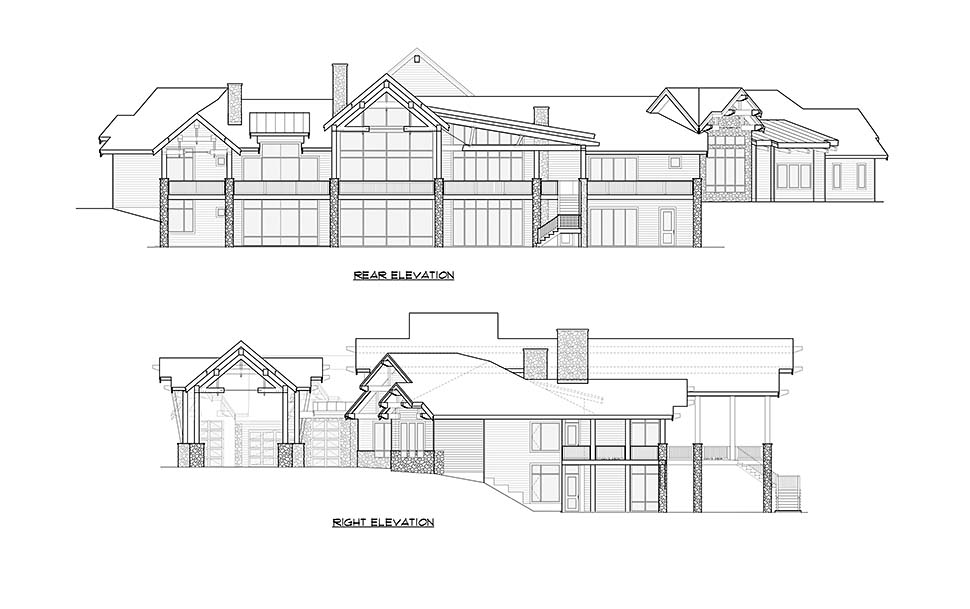 Craftsman, Log House Plan 81916 with 5 Beds, 9 Baths, 4 Car Garage Picture 4
