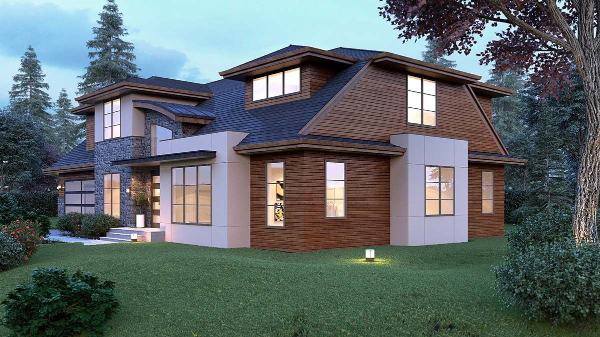 Contemporary, Modern House Plan 81917 with 4 Beds, 4 Baths, 2 Car Garage Picture 1