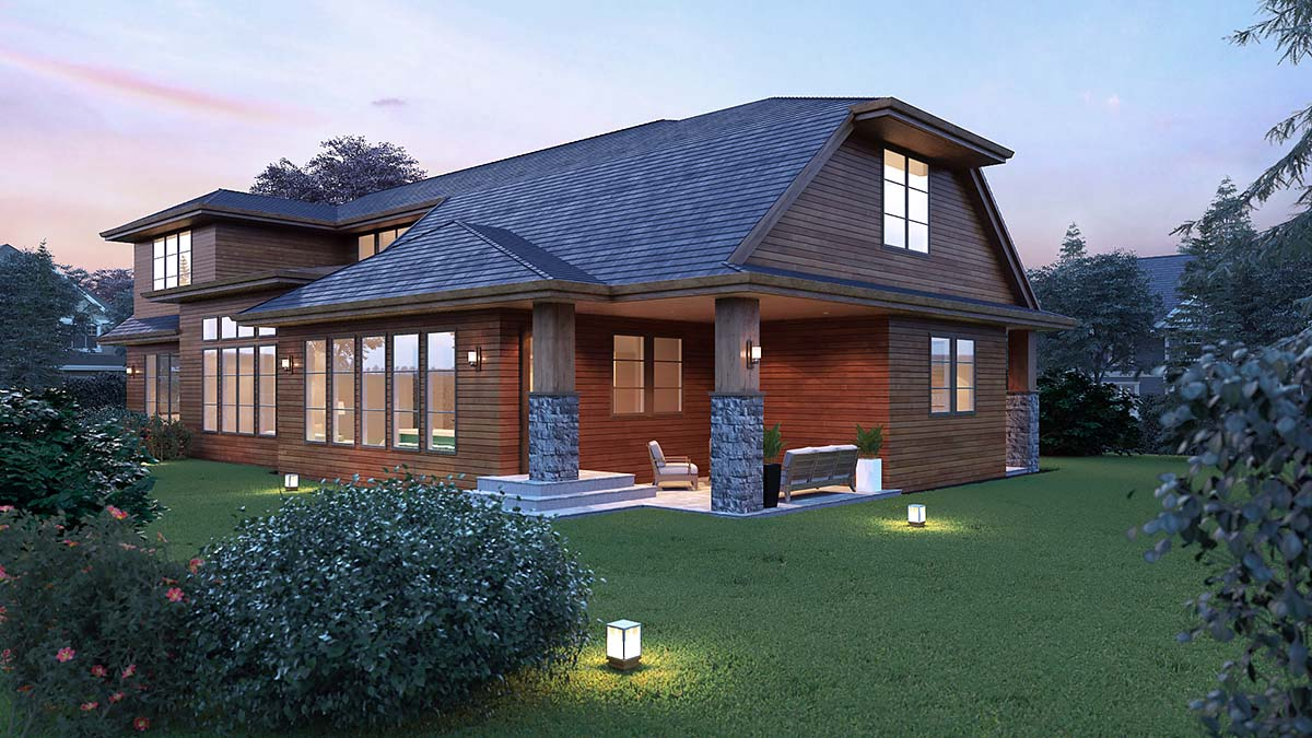 Contemporary, Modern House Plan 81917 with 4 Beds, 4 Baths, 2 Car Garage Picture 2