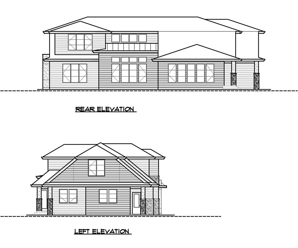 Contemporary, Modern House Plan 81917 with 4 Beds, 4 Baths, 2 Car Garage Picture 4