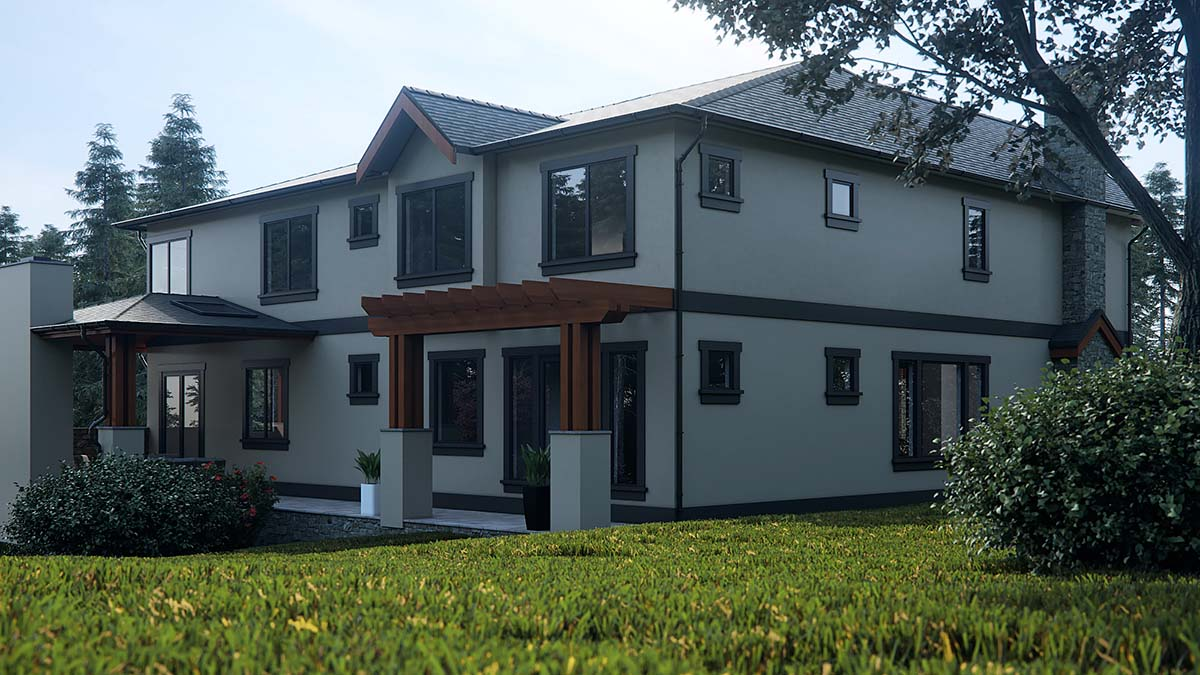 Contemporary, Craftsman, Log House Plan 81918 with 5 Beds, 6 Baths, 3 Car Garage Picture 2