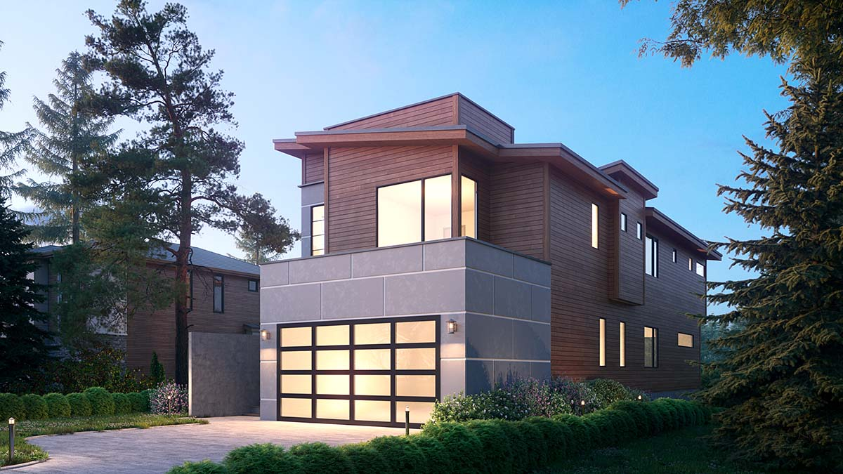 Contemporary, Modern House Plan 81919 with 3 Beds, 4 Baths, 2 Car Garage Picture 1