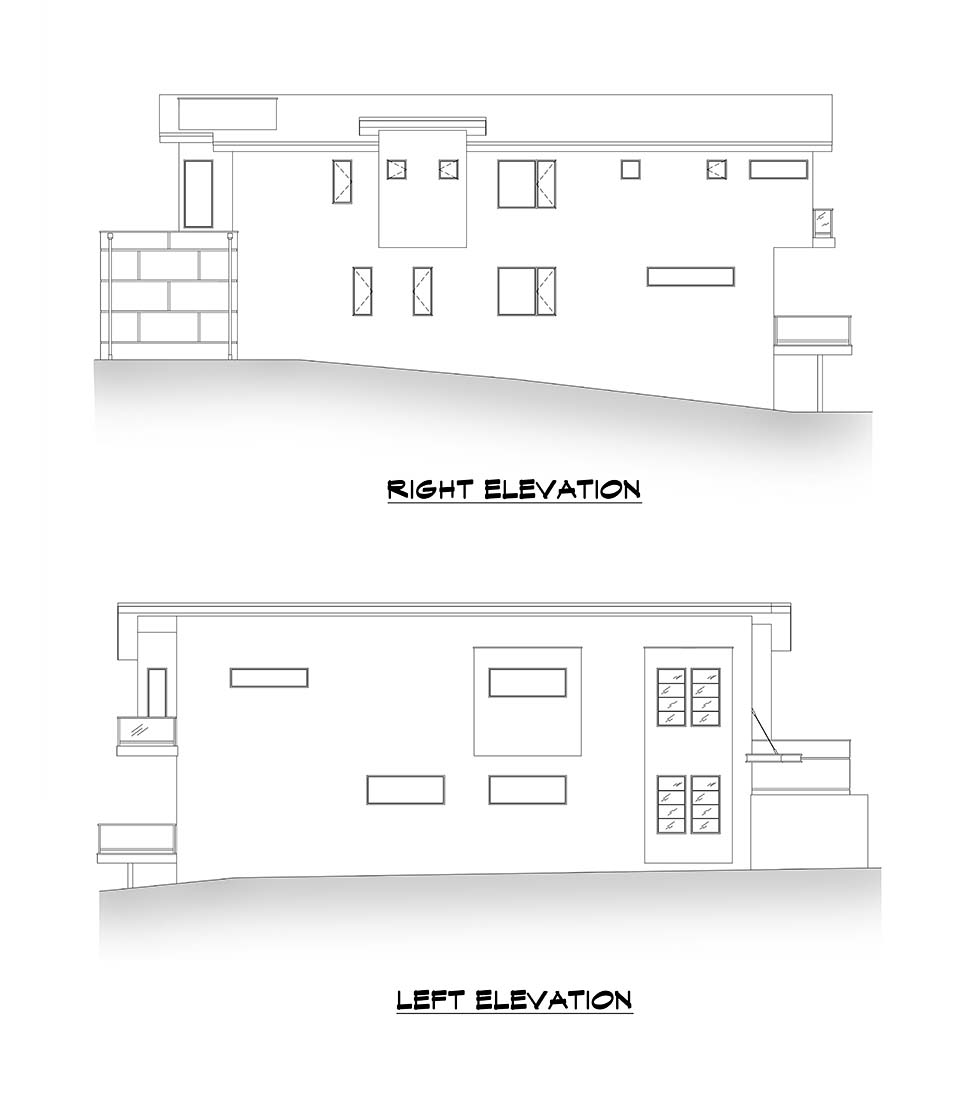 Contemporary, Modern House Plan 81919 with 3 Beds, 4 Baths, 2 Car Garage Picture 4