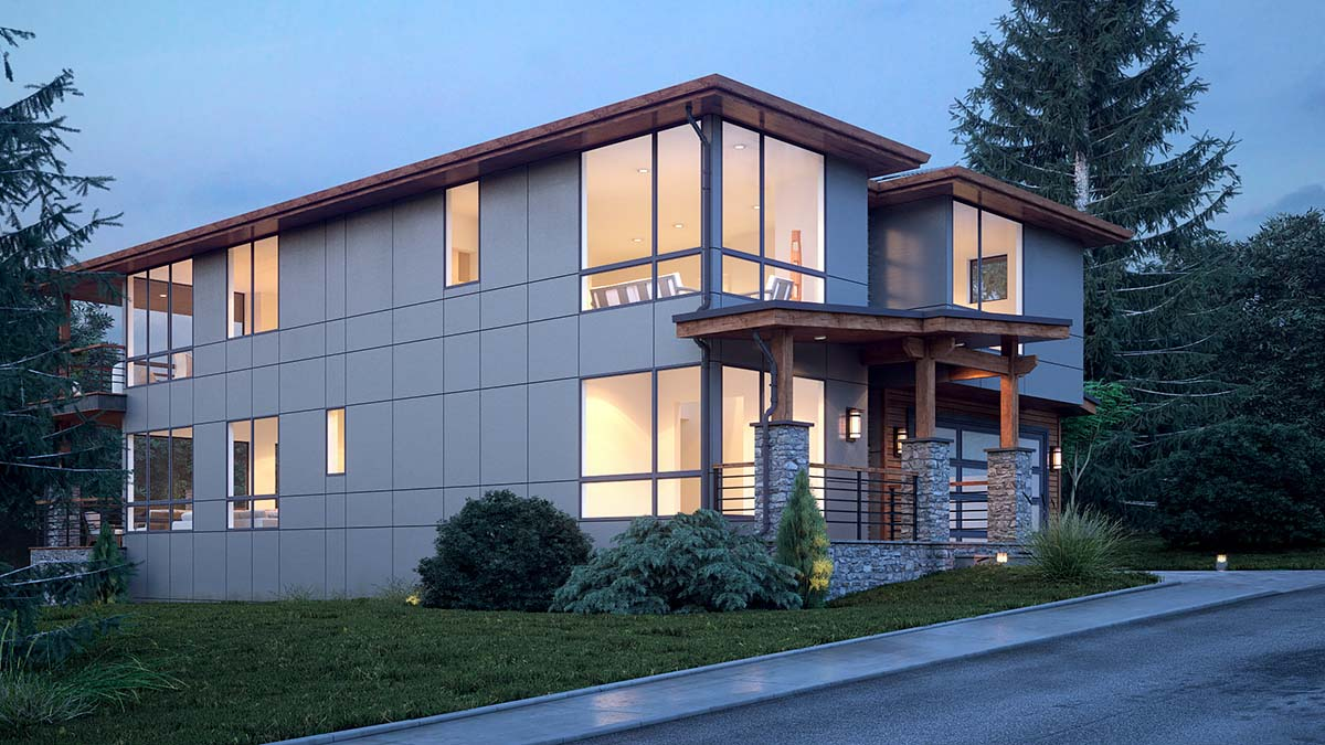 Modern Plan with 3315 Sq. Ft., 4 Bedrooms, 4 Bathrooms, 3 Car Garage Picture 3
