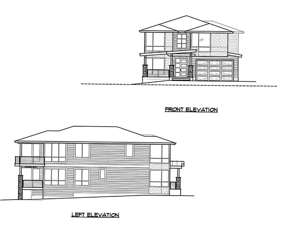 Modern Plan with 3315 Sq. Ft., 4 Bedrooms, 4 Bathrooms, 3 Car Garage Picture 4