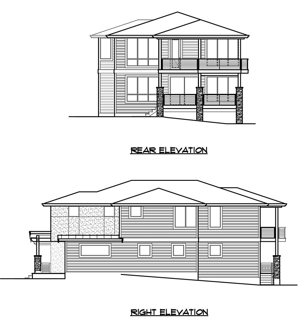 Modern House Plan 81920 with 4 Beds, 4 Baths, 3 Car Garage Picture 4