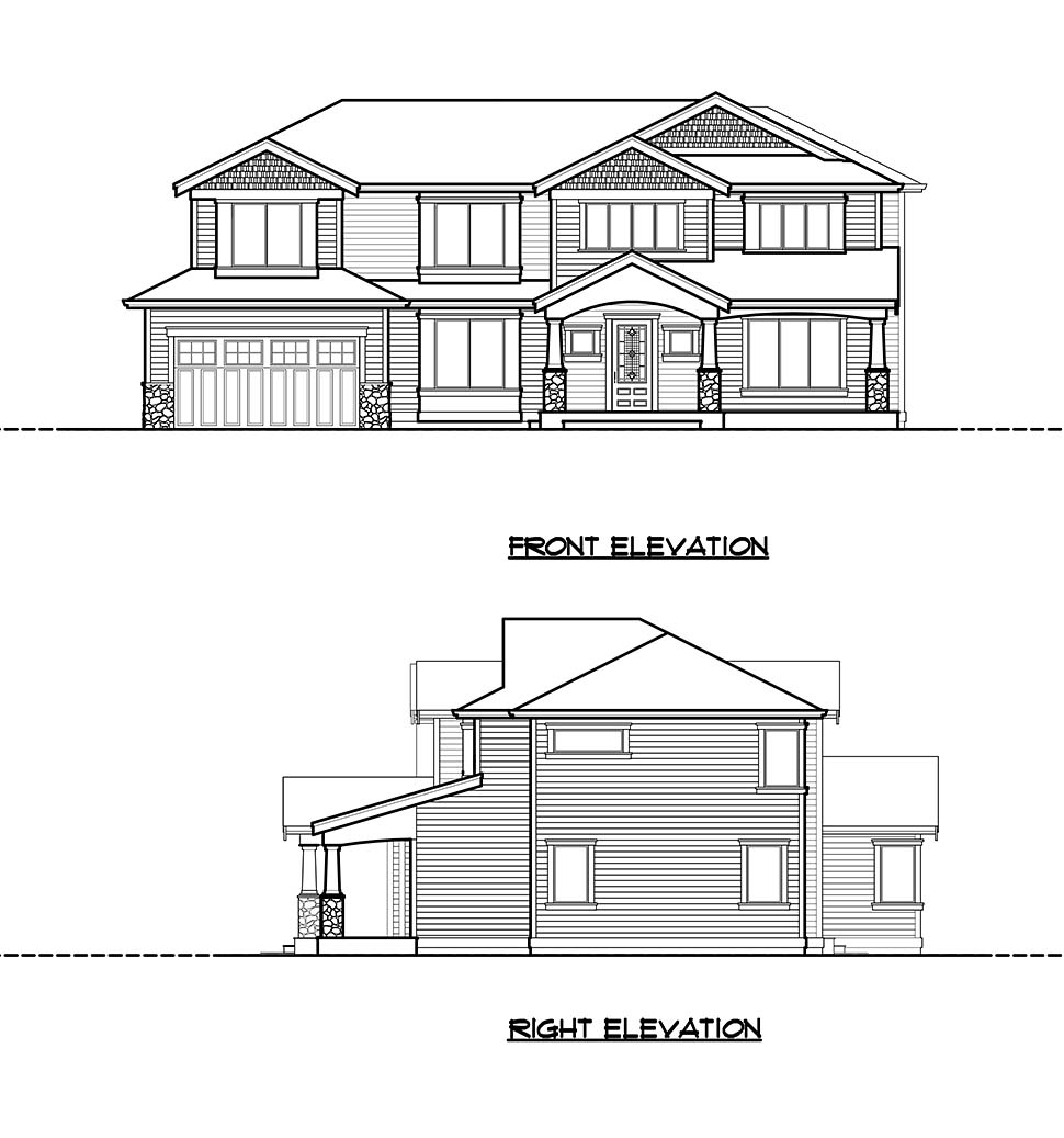 Craftsman, Traditional House Plan 81922 with 5 Beds, 4 Baths, 2 Car Garage Picture 3
