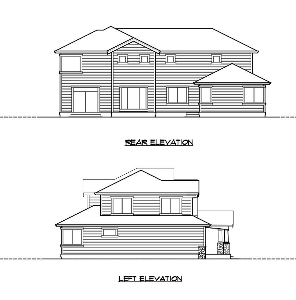 Craftsman, Traditional House Plan 81922 with 5 Beds, 4 Baths, 2 Car Garage Picture 4