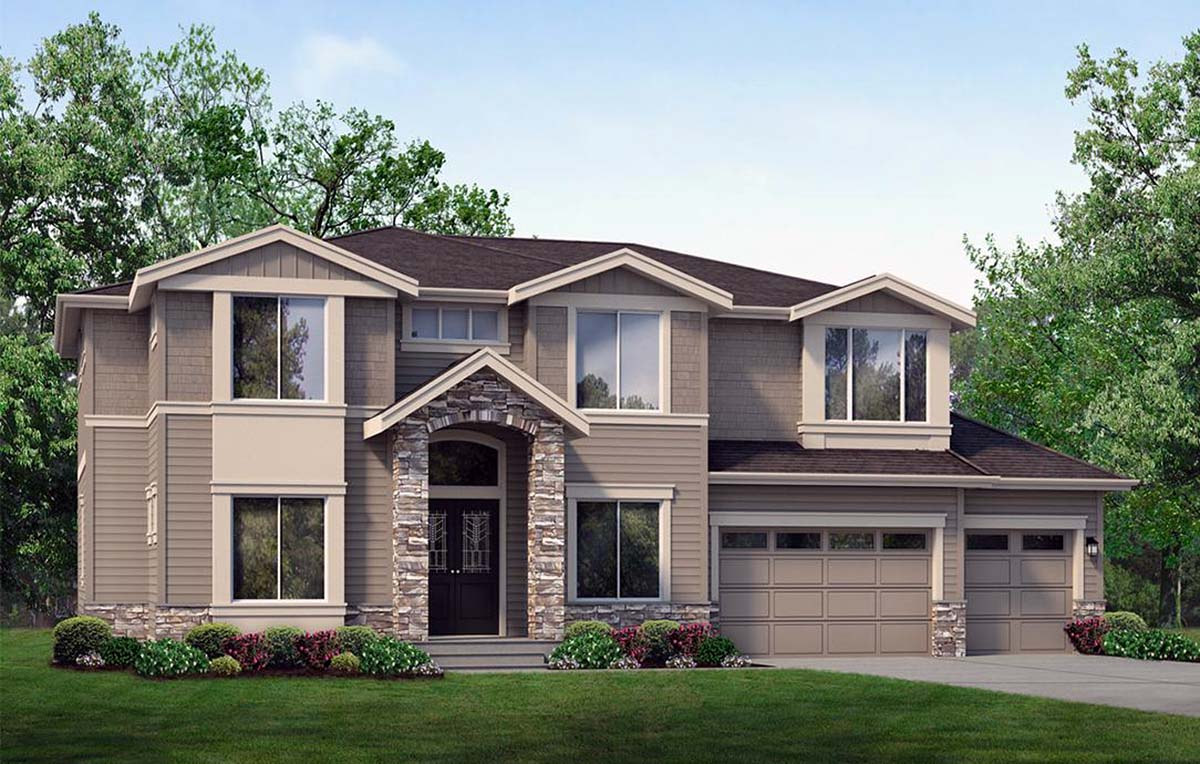 Contemporary House Plan 81923 with 6 Beds, 4 Baths, 3 Car Garage Picture 1