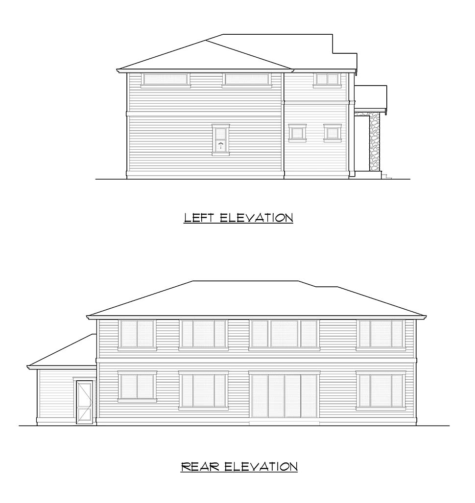 Contemporary House Plan 81923 with 6 Beds, 4 Baths, 3 Car Garage Picture 18