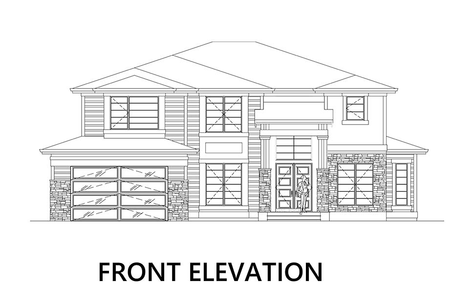 Modern House Plan 81926 with 5 Beds, 4 Baths, 4 Car Garage Picture 2