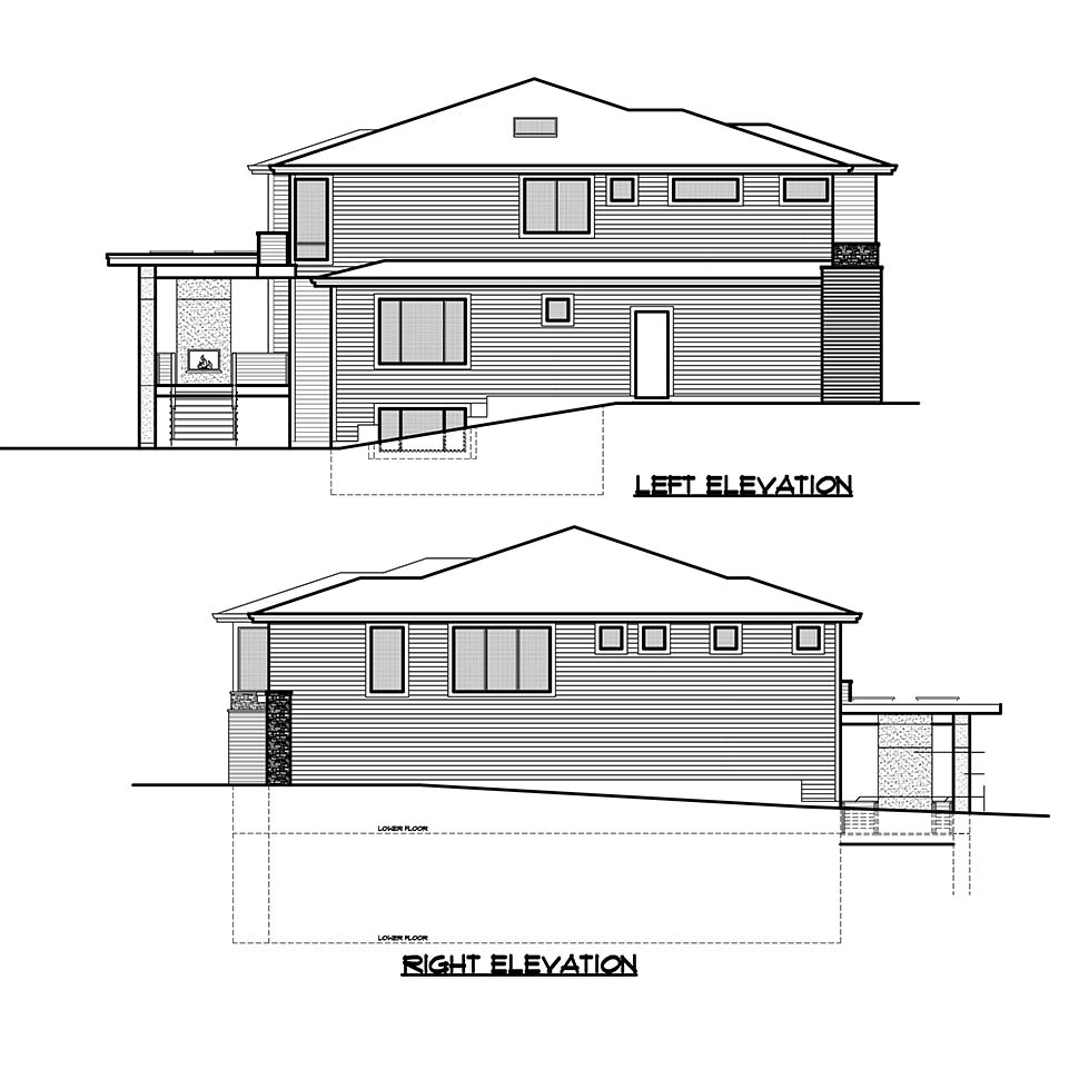 Contemporary, Modern, Prairie House Plan 81929 with 5 Beds, 6 Baths, 3 Car Garage Picture 4