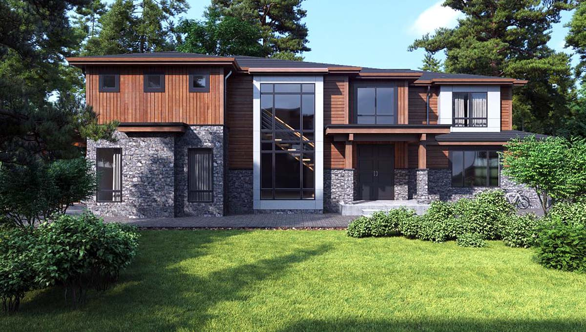 Contemporary, Modern House Plan 81934 with 3 Beds, 4 Baths, 3 Car Garage Elevation