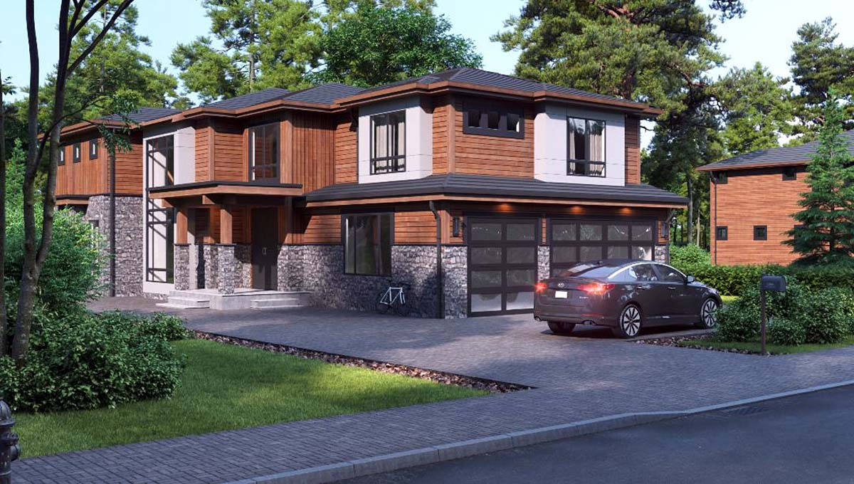 Contemporary, Modern House Plan 81934 with 3 Beds, 4 Baths, 3 Car Garage Picture 1