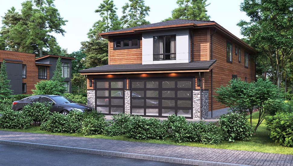 Contemporary, Modern House Plan 81934 with 3 Beds, 4 Baths, 3 Car Garage Picture 2