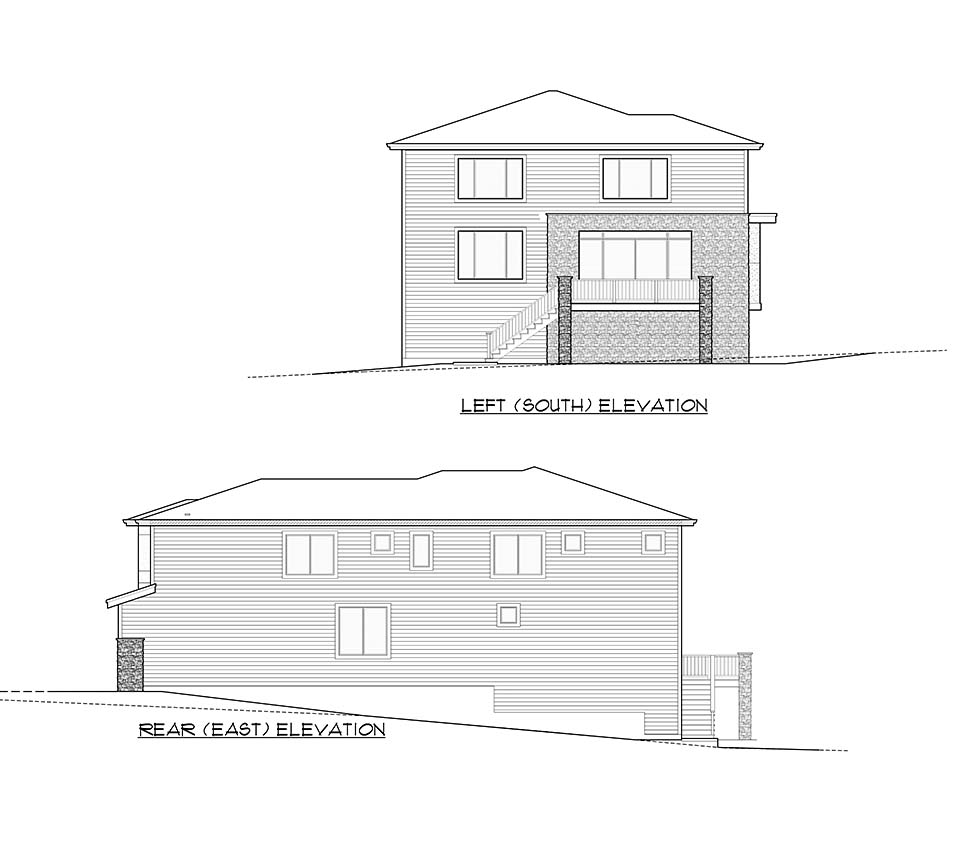 Contemporary, Modern House Plan 81934 with 3 Beds, 4 Baths, 3 Car Garage Picture 4