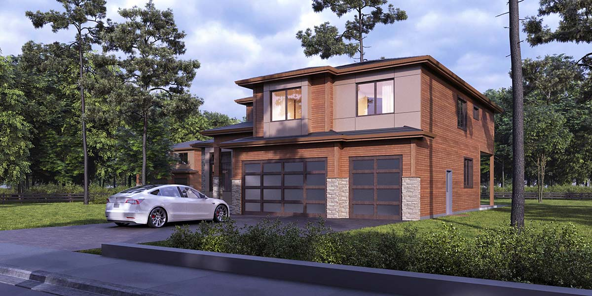 Contemporary, Modern House Plan 81936 with 4 Beds, 5 Baths, 3 Car Garage Picture 1