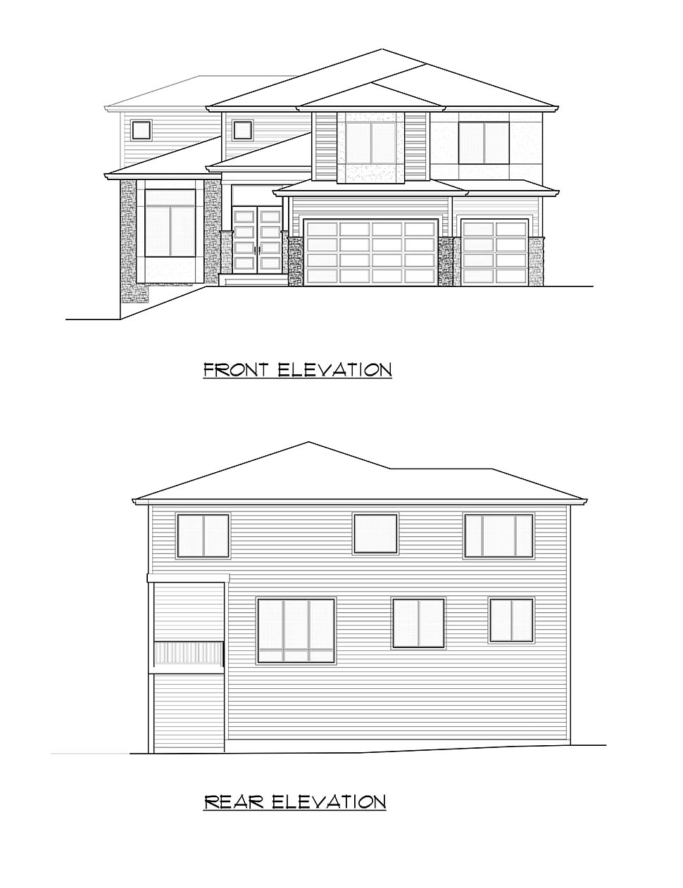 Contemporary, Modern House Plan 81936 with 4 Beds, 5 Baths, 3 Car Garage Picture 3