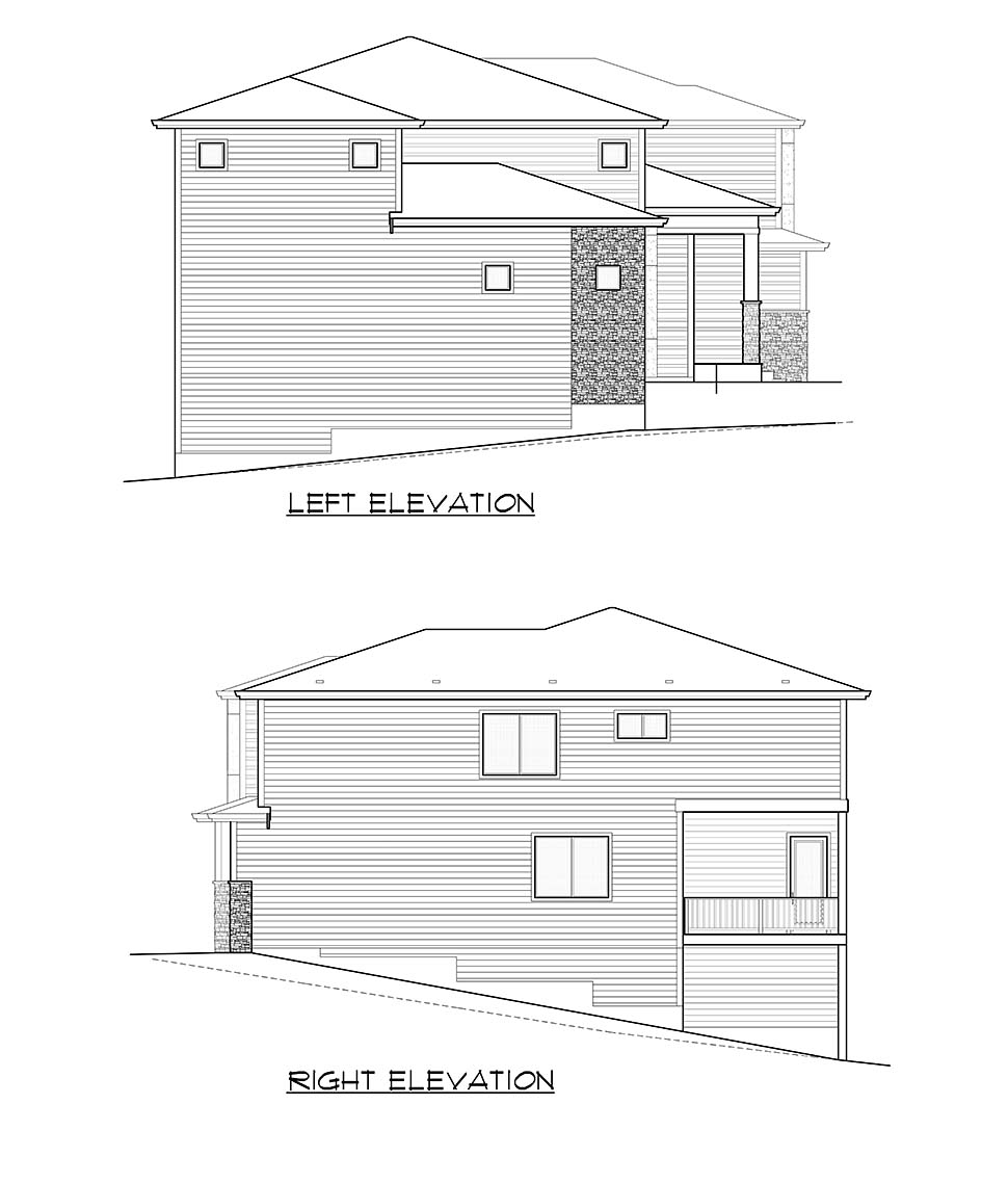 Contemporary, Modern House Plan 81936 with 4 Beds, 5 Baths, 3 Car Garage Picture 4