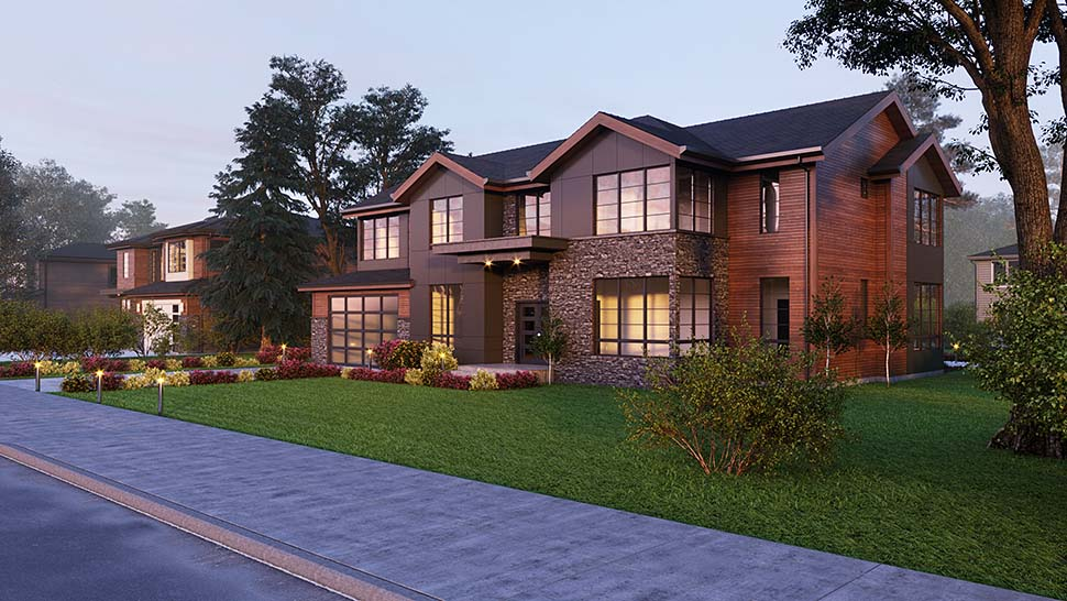 Contemporary, Craftsman House Plan 81938 with 4 Beds, 5 Baths, 2 Car Garage Picture 2