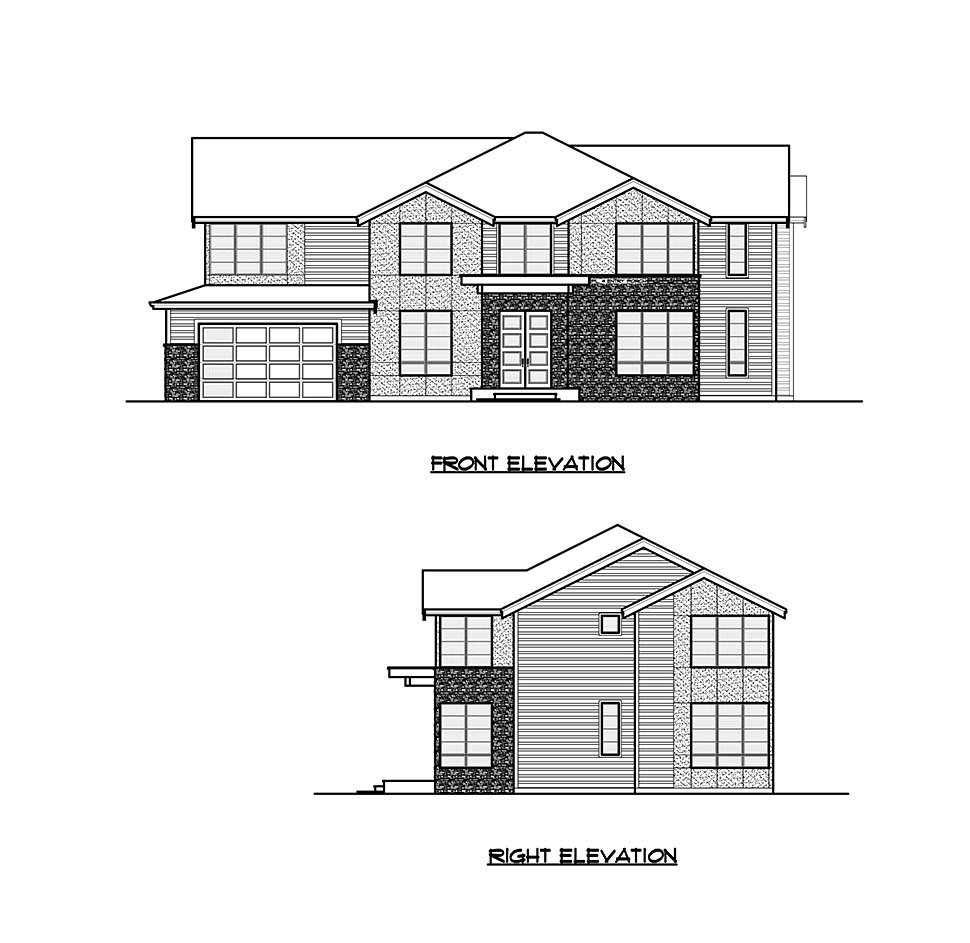 Contemporary, Craftsman House Plan 81938 with 4 Beds, 5 Baths, 2 Car Garage Picture 3